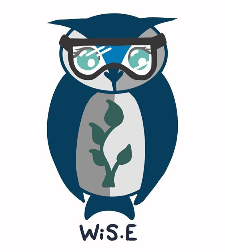 The W.i.S.E. logo, created by senior Elannore Bester, is featured prominently on the group