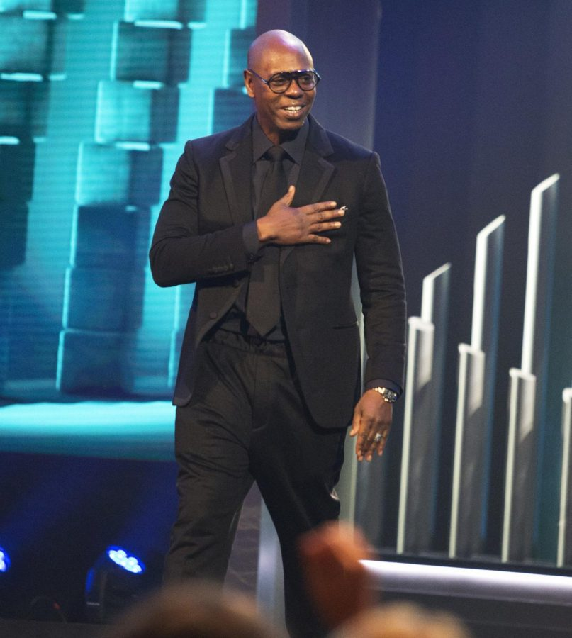 Stand-up comedian Dave Chappelle at the Mark Twain awards ceremony.